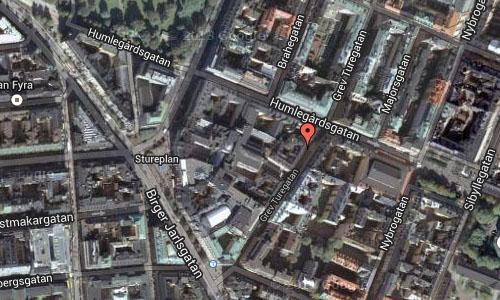 Grev Turegatan in Stockholm Maps2