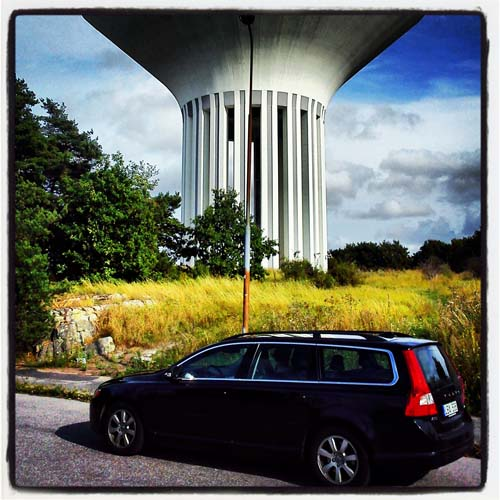 2013 - My 2011 Volvo V70 at the Watertower in Uppsala