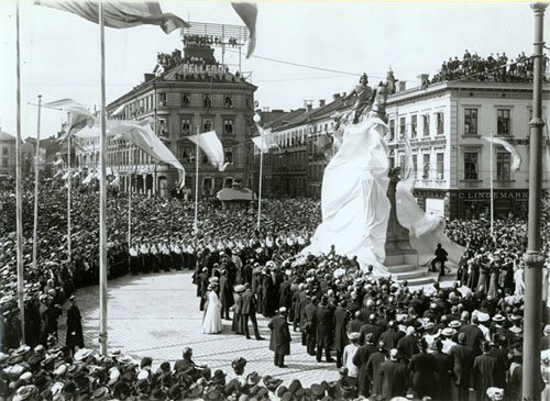 Inauguration of statue of Karl IX in 1904