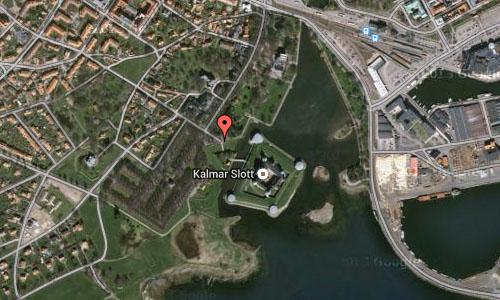 Kalmar Slott in Kalmar maps2