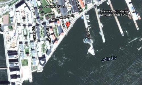 Manövergången in Göteborg Maps2