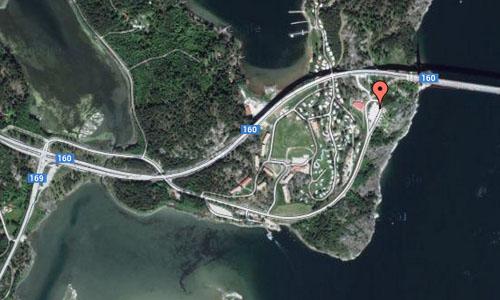 Tjörn bridge on Tjörn Maps