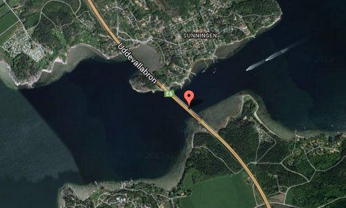 Uddevallabron near Uddevalla Maps