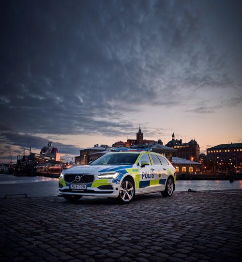 2016 - Volvo V90 Polis at Stenpiren in Göteborg