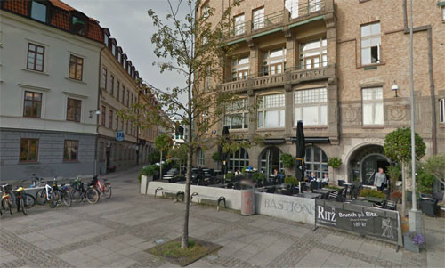 2015 - Bastionsplatsen in Göteborg (Google Streetview)