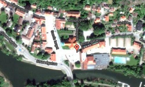 Kungälv kyrkan in Kungälv Maps