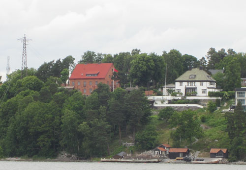 2013 - Roskullsvägen on Lidingö seen from the water (own photo)