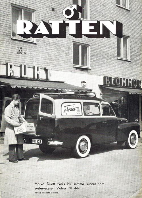 1953 – Volvo PV445 at Bjurslätts Torg in Göteborg (Ratten)