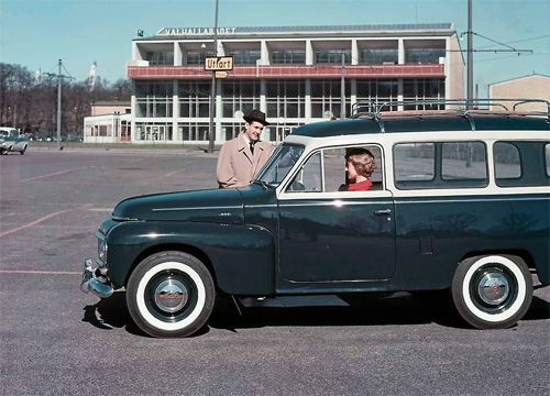 1960 - Volvo Duett at Valhallabadet in Göteborg