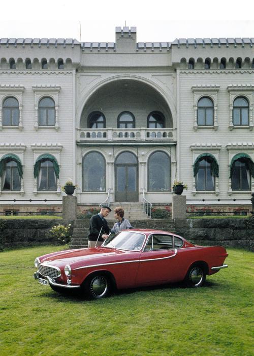1961 - Volvo P1800 at Slottsviken Mölndal