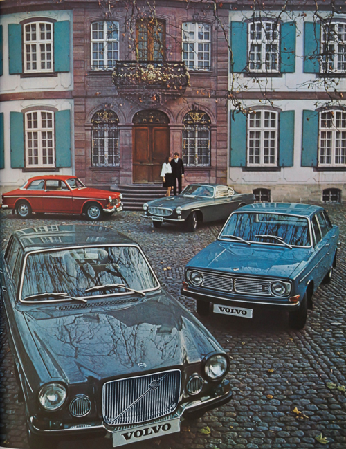 1969 - Volvo Amazon,  P1800, 144 and 164 in Basel (Automobil Revue 1969 - Volvo Ad)