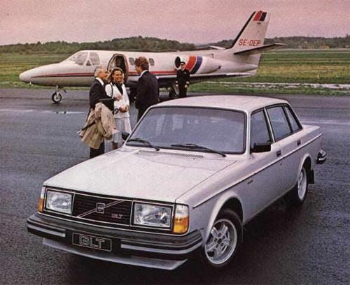 1980 - Volvo 244 GLT at Göteborg City Airport or Säve Flygplats