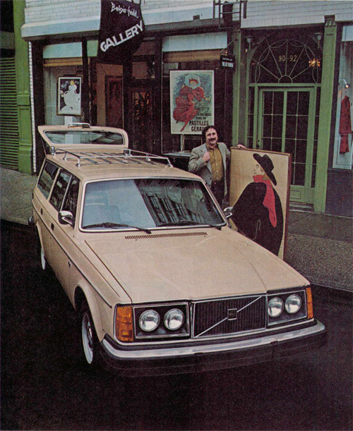 1979 - Volvo 245 GL with Joseph Eliasoph at Belgis-Freidel Gallery on 92 Thompson St in SoHo in New York, USA.