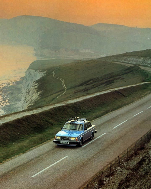 1980 - Volvo 264 GLE at Military Road or A3055 between Freshwater Bay and Compton Bay on Isle of Wight, United Kingdom