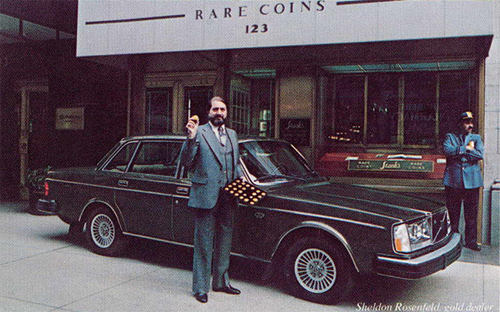 1980 - Volvo 264 GLE with Sheldon Rosenfeld at Stack's Rare Coins on 123 W 57th St in New York USA.
