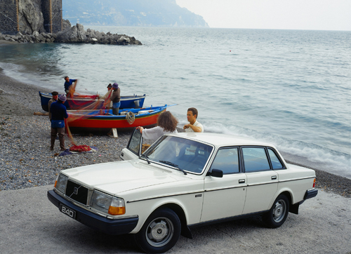 1983 Volvo 240 GL at Atrani Beach in Atrani on Amalfi Coast, Italy