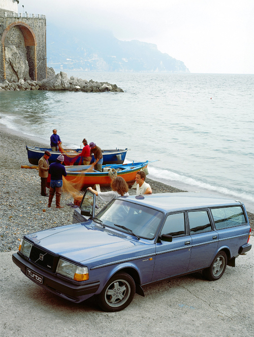 1983 Volvo 240 Turbo at Atrani Beach in Atrani on Amalfi Coast, Italy