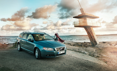 2012 - Volvo V70 at the beach at Tylosand