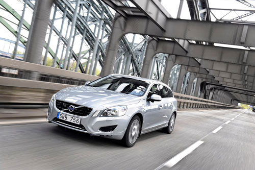 Volvo V60 D6 Plug in Hybrid on a bridge in Germany?