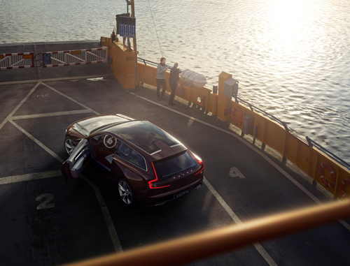 2014 - Volvo Concept Estate on Bodilla färjan or ferry which runs in the Fårösundsleden to Fårö on Gotland, Sweden.