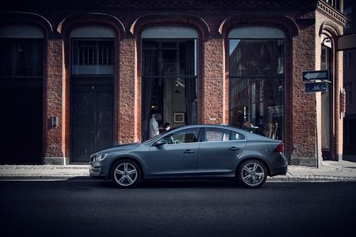 2016 - Volvo S60, looks like in front of a barbershop on a corner in Copenhagen, Denmark?