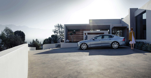 2016 - Volvo S90 at Pasadena House on Heatherside Rd in Pasadena, Los Angeles, USA