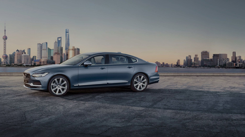 2016 - Volvo S90 at WaiTan on Huangpu Qu in Shanghai in China