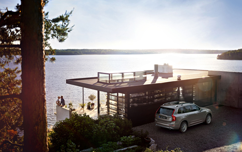 2016 - Volvo XC90 at the Rock House on Munsö at Lake Mälaren outside Stockholm