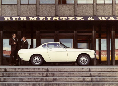 Volvo P1800 at the Burmeister & Wain office, in Copenhagen or London?