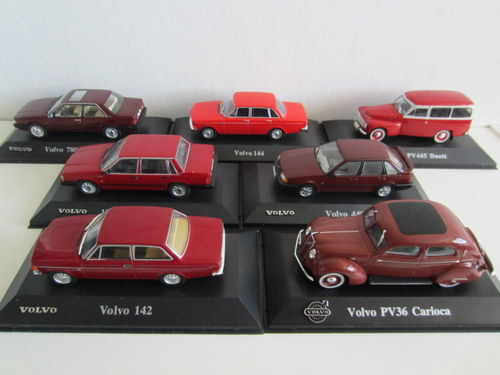 Many red Volvo cars in the Atlas Collection
