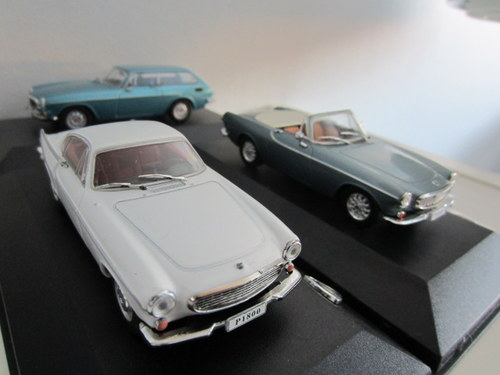 The three P1800s from the Volvo Collection