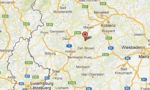 259 Reichsburg Cochem Rhein Germany Map