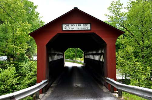 2013 - Chiselville Bridge on Sunderland HI Road in Arlington, Vermont USA