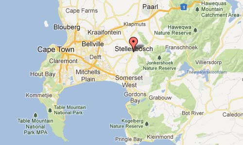 Church Street Stellenbosch Western Cape South Africa Map
