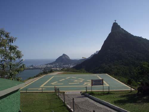 2013 - Corcovado Helipad at the Estrada Mirante Dona Marta in Rio de Janeiro, Brazil