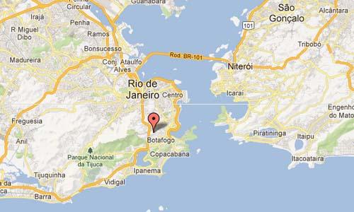 Corcovado Helipad - Rio de Janeiro Brazil Map