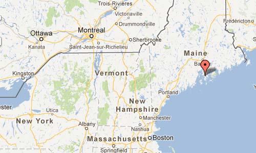 Deer Isle Bridge - Little Deer Isle Road Deer Isle Maine USA Map
