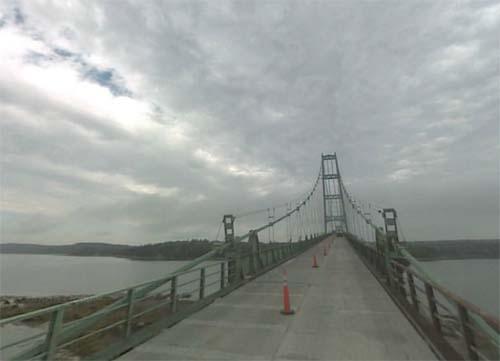 2013 - Deer Isle Bridge with Little Deer Isle Road to Deer Isle near Maine - USA (Google Streetview)