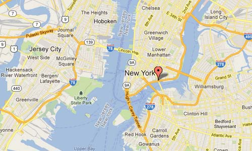 FDR Drive New York USA Map