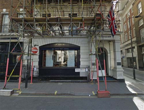 2013 - Gieves & Hawkes shop at 1 Savile Row in  London UK (Google Streetview)