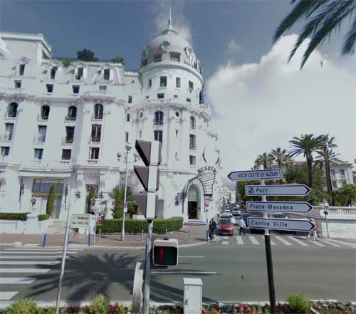 2013 - Hôtel Le Negresco on Promenade des Anglais in Nice France (Google Streetview)