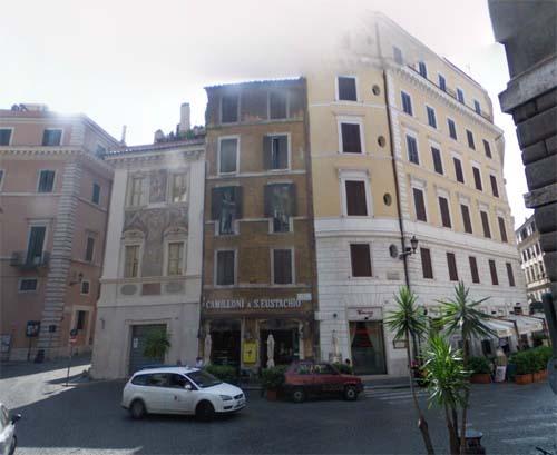 2013 - Piazza di Sant'Eustachio in Roma in  Italy (Google Streetview)