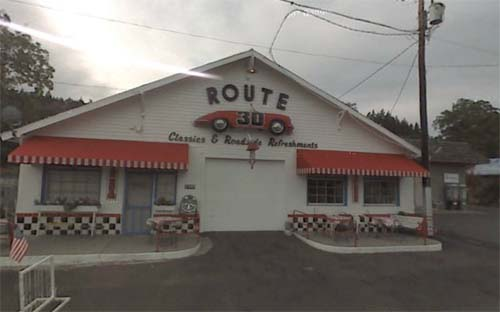 2013 - Route 30 on 1100 1st Avenue in Mosier, Oregon USA (Google Streetview)