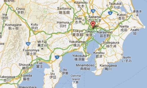 Tokyo Stock Exchange Map