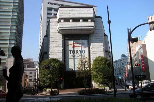 2013 - Tokyo Stock Exchange at 2-1 Nihombashi in Kabutocho, Tokyo, Japan