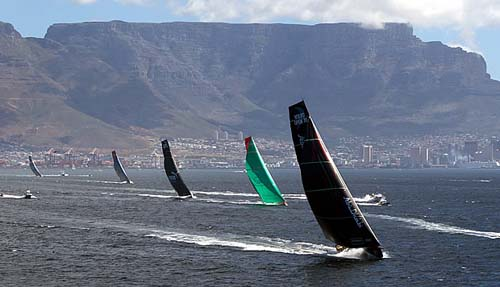 201 - Volvo Ocean Race 2010-2011 leaves Cape Town