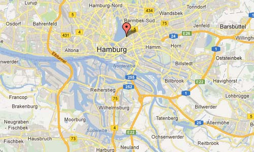 An der Alster in Hamburg D Map