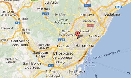 Arsenal Mixto in Barcelona Map