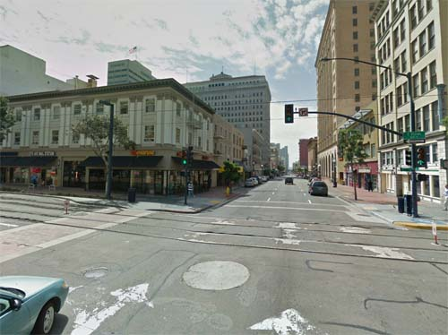 2013 - C Street in San Diego in California USA (Google Streetview)