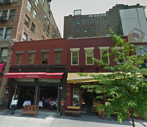 2013 - Cafe Novecento & Diva on 341 West Broadway in  New York USA (Google Streetview)